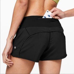 Lululemon Run Times Shorts Black Size 2